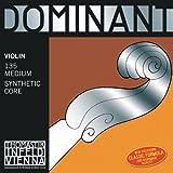 Thomastik cuerda suelta para 4/4 violín dominant - cuerda mi acero cromo, mediana, lazo.