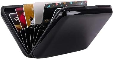 Elfish RFID Blocking Credit Card Protector Aluminum ID Case Hard Shell Business Card Holders Metal Wallet for Men or Women (B
