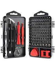 KYG 112 en 1 Destornilladores de Precisión Juego de Destornilladores Profesional con 90 Puntas Magnéticas para Tornillos y 21 Componentes Kit de Herramientas Profesional y Domestico para Reparación