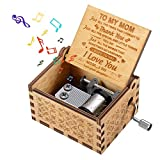 Gifts for Mom Mother Mommy, Birthday Present for Mom Mother Exquisite Things for Dear Mom Wooden Hand Crank Music Boxes for Mother's Day Xmas from Daughter To Mom