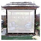 AMDHZ Lonas Transparentes Impermeable A Prueba de Viento Cortinas de Lona con Ojales Cubierta de plástico for Muebles de jardín Personalizable (Color : Transparent, Size : 6mx6m)