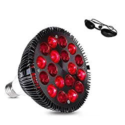 """MQ 36W LED Infrared Heat Therapy Lamp Red Light Therapy Device, Bulbs with 18Pcs LED for Physiotherapy Muscle Pain Relief Skin Care and Health Wellness Increases Blood Circulation, 4.8""""W x5.4"""" H"""