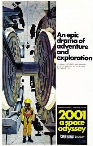 2001 A Space Odyssey - Stanley Kubrick – Film Poster Plakat Drucken Bild – 43.2 x 60.7cm Größe Grösse Filmplakat