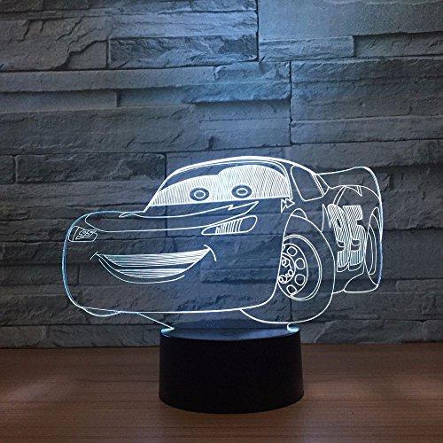 Sanzangtang Led-nachtlampje, 3D-zeven-kleuren, afstandsbediening, nieuwe supercar nachtlampje, racing, tafellamp, glijbaan, kinderen, slaapkamer, decoratie, woonkamer, lamp, nachtlampje