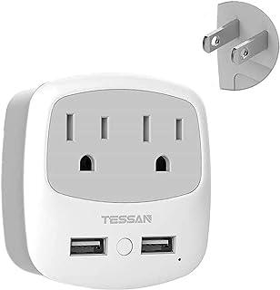 USBコンセント タップ 2AC口 2USBポート 電源タップ マルチタップ usb充電タップ たこあしコンセント トリプルタップ コンセント変換 3Pプラグを2Pに変換用アダプタ