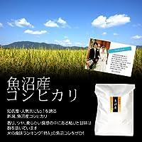 【結婚式の引出物に】オリジナルメッセージカード付き!魚沼産コシヒカリ 玄米 20kg(10kg×2袋)