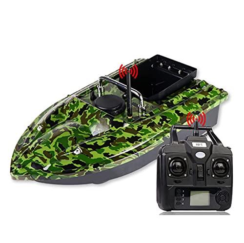 Olaffi Barco de Cebo de Pesca Inteligente, lámpara de señuelo para Peces, Control Remoto de 500 m, Herramienta de Pesca asistida por Carga de 1.5 kg, batería de Gran Capacidad/Color de Camuflaje