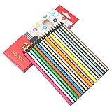 12 lápices de colores metálicos no tóxicos y 6 lápices de colores fluorescentes para dibujar