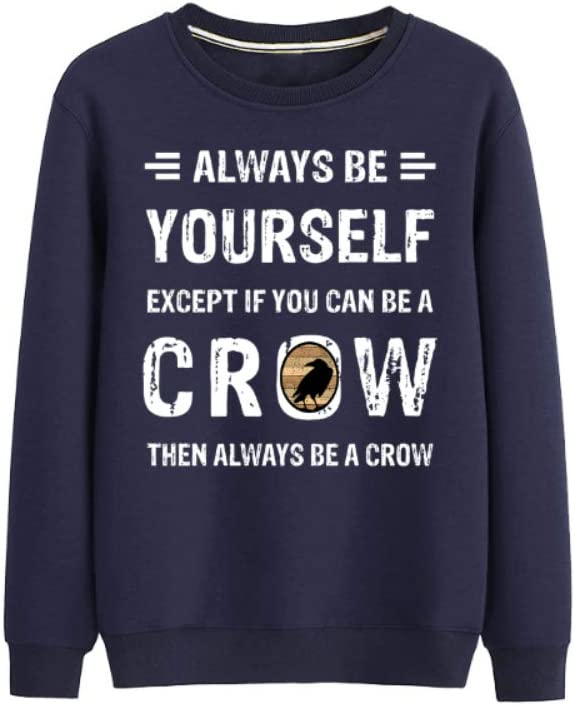 VOHJKENM 3D Pullover Always Be Yourself - Crow Gift Breathable Outwear Leisure Men (Color : A04, Size : Large)