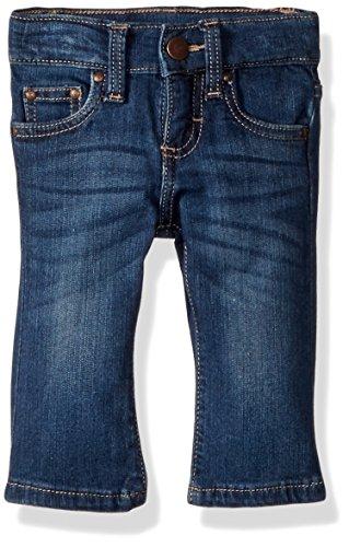 Wrangler Baby Girls Skinny Jean, Medium Blue, 0-3 Mo
