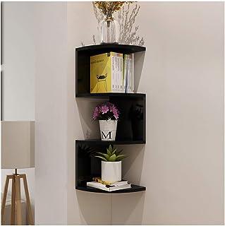 Dxbqm Organisateur de Rangement 3 pièces étagère d'angle Blanche Flottante, étagères de Support de Rangement murales, étag...