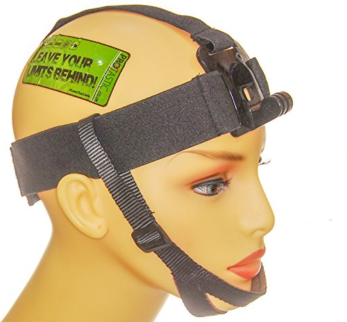 PROtastic Kopfhalterung mit Kinnriemen für GoPro/SJCAM Action Kameras: Skifahren, Surfen, Radfahren