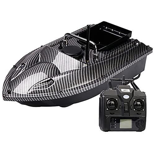 HYLDM RC Fischk & ouml; Der Boot - 500M 2,4GHz Ferngesteuertes Boot RC K & ouml; derfischboot, Fischerboote mit LED Nachtsichtlicht und Dual Motor, 1,5kg Last, Kohlefaser, 12000mAh