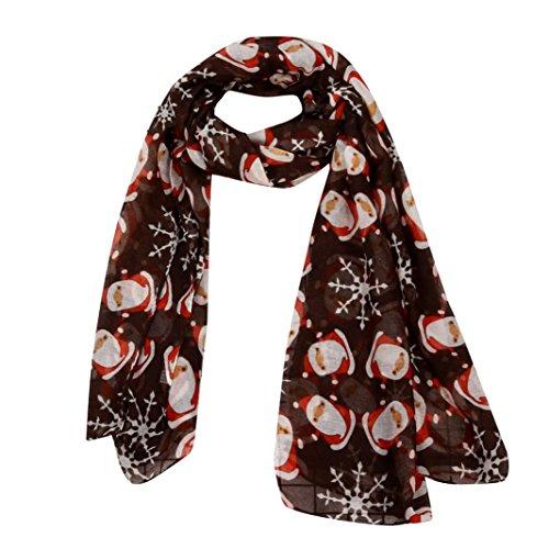 Tpulling Sciarpa Donna, donne di Natale meravigliate hanno stampato il scialle della sciarpa quadrata-seta del fiocco di neve del fiocco di neve