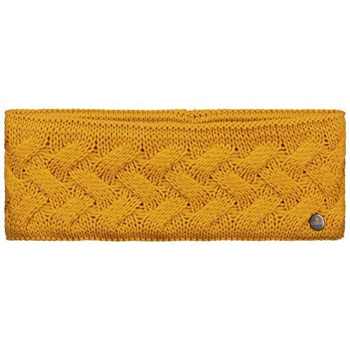 Lierys Fauske hoofdband dames (10,5 cm breed) met scheerwol - Made in Germany - One size 55-60 cm - met fleecevoering - Headband met gevlochten patroon - Herfst/winter