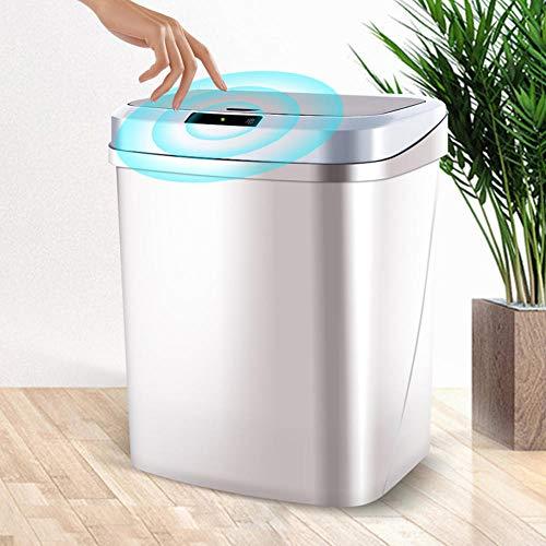 HUA JIE Botes De Basura con Sensor Inteligente para Sala De Estar, Dormitorio, Cocina Y Baño, Botes De Basura con Sensor Automático
