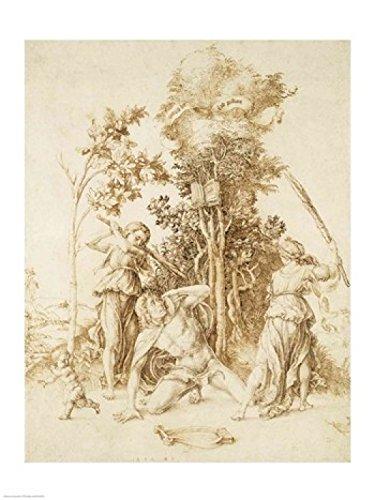 BrainBoosters Impressão em pôster The Death of Orpheus 1494 de Albrecht Durer - 61 x 91 cm - Grande