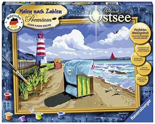 Ravensburger Malen nach Zahlen 28904 - Urlaub an der Ostsee - Für Erwachsene und Kinder ab 14 Jahren