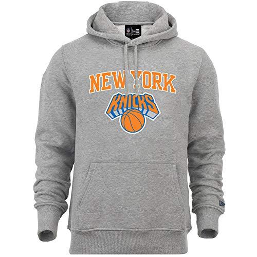 New Era York Knicks - Felpa con Cappuccio da Uomo, Uomo, Felpa con Cappuccio da Uomo, 11546169, Grigio, M