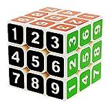 GoodCube Sudoku 3x3 Magic Cube Stickerless 3x3x3 Number Speed Cube Puzzle