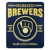 Northwest MLB Milwaukee Brewers 50x60 Fleece Southpaw DesignBlanket, Team Colors, One Size