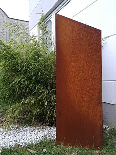 Zen Man Edelrost Garten Sichtschutz aus Metall 1mm Rost Gartenzaun Gartendeko edelrost Sichtschutzwand 031997 150/125 * 50cm