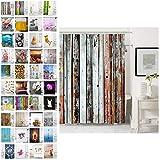 Sanilo Duschvorhang, viele schöne Duschvorhänge zur Auswahl, hochwertige Qualität, inkl. 12 Ringe, wasserdicht, Anti-Schimmel-Effekt (180 x 200 cm, Antik)