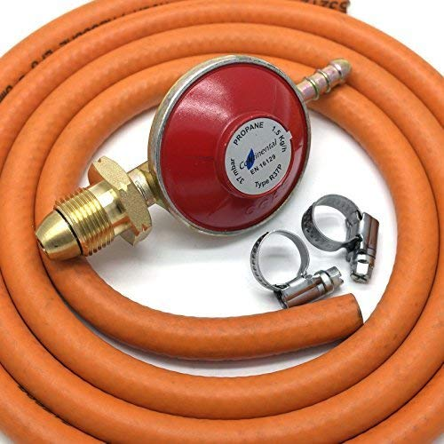 continental products Propane Gas Regulator 37Mbar With 2M Hose & 2 Clips...