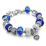 Pulsera Joyas Bracelet Fashion Buddha Yoga Pink Bracelets Bangles For Women Elastic Natural Tiger Eye Stone Beads Jewelry Bracelets Sbr150056Bu