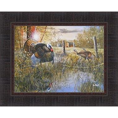Morning Ritual by Jim Hansel 17x21 Turkey Barn Framed Art Print Wall Décor Picture
