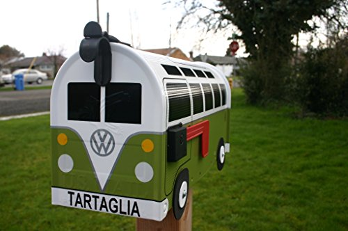 Grass Green 21 Window Volkswagen Bus Mailbox by TheBusBox - Choose your color VW Split Splitty Custom and Unique! Cool Mailbox
