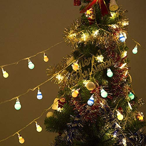 2021 Goplus LED Ball String 2021 Lights Christmas Xmas Wedding Party Garden new arrival Decor Lamp Colorful (20LED 14Ft) online sale