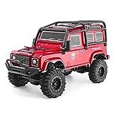 RGT RC Crawler 1:24 Scale 4WD Off Road RC Car Mini Monster Truck Hobby Crawler Cruiser RTR 4X4 Waterproof Rock Crawler Red