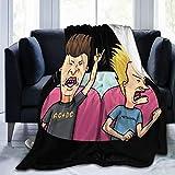 Beavis and Butt-Head Super Soft Fuzzy Fleece Blanket Decoration All Season Warm Blankets Lightweight Blankets Flannel Sofa Bed 60'X50'