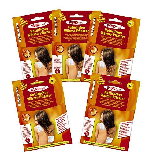 5er Set Wärmepflaster Schmerzpflaster 13x9,5 cm Wundmed 8h Rücken Pflaster Wärmepad Nacken Wärmekissen Wärme Wärmepad verspannung muskelschmerzen