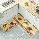 HLXX Alfombrillas de Cocina alfombras Antideslizantes alfombras de baño Alfombra de Puerta Larga Accesorios de decoración del hogar alfombras A2 40x60cm + 40x120cm
