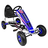 Kart Drifting Kit - Outdoor Racing Scooter, Riding Toy, High-Carbon Steel 4-Wheels Toy Car Pedal Go Kart Bike, Adjustable Metal Racer Ride-on Car for Kids 5-12 Age, Easy to Carry (A)