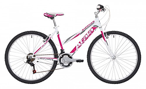 Mountain Bike da Donna Atala Sunrise 2017 18V 26' Bianco/Fuxia