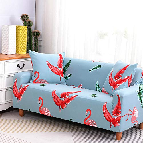 HXTSWGS Weich Dick Sofahusse,Stretch Sofa Cover, Stretch Fabric, Furniture Protection Cover-Blue 11_145-185cm