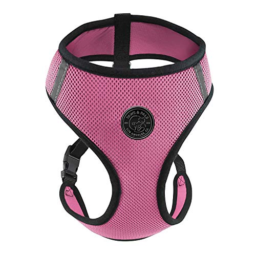 Paws & Pals Pet Control Harness for Dog & Cat Easy Soft Walking Collar, Medium