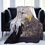 Manta de Tiro Pájaro de águila Calva Americana Manta de Microfibra Ultra Suave Manta de Cama súper Suave y acogedora Manta de Cama Sofá Sofá Sala de e