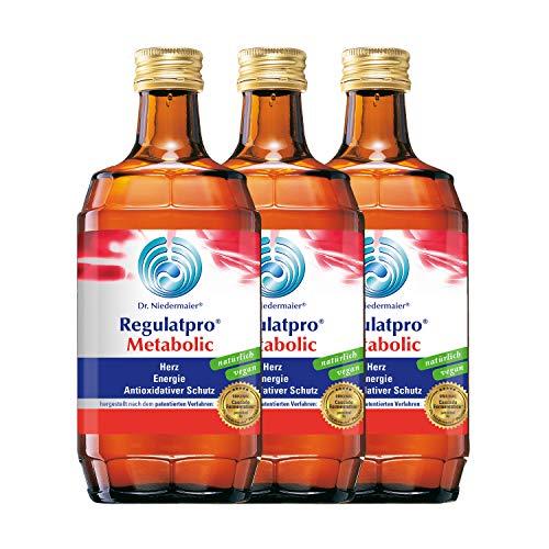 Dr. Niedermaier Regulatpro® Metabolic I für mehr Energie und Leistungssteigerung im Sport** I Anti-Oxidativer Schutz I enthält Magnesium, Mangan, Vitamin B I 3x 350ml (3er Pack)