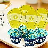 Sayala 24 Piezas de Cupcake para Decoraciones de cumpleaños Fiesta de cumpleaños Feliz para Birthday Party la decoración de la Torta
