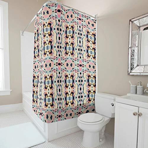 Toomjie Duschvorhänge Hippie-Shake beker Wasserabweisend Top Qualität douchegordijn B x H: 180x200cm Badewannenvorhang mit inkl Duschvorhangringen