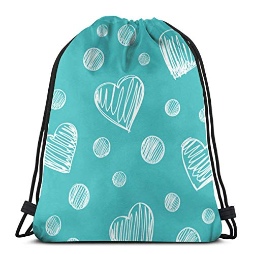 Simple Love in Green Drawstring Bapa Bag Sport Gym Sapa Impermeable Hombres Mujeres Cincha Bolsa para Viajes Yoga Playa Escuela