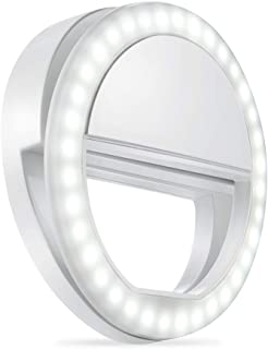 Whellen Selfie Ring Light with 36 LED for Phone/Tablet/iPad Camera [UL Certified] Portable Clip-on Fill Round Shape Light-White