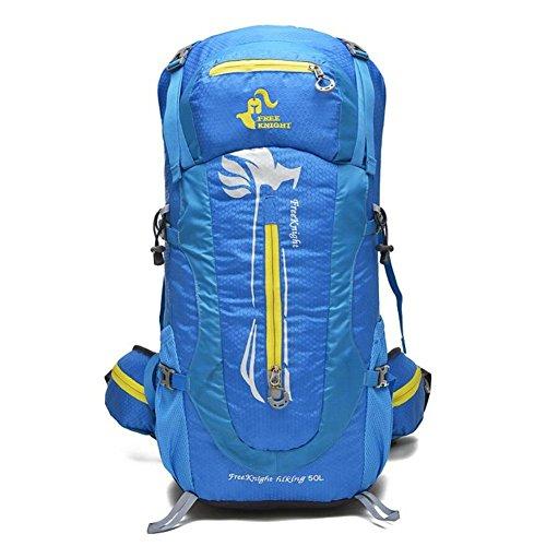 GAOHAILONG 50L Nylon imperméable Grande capacité Sports de Plein air Voyage Camping Randonnée Rucksack Alpinisme Escalade Sac à Dos, 1