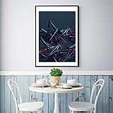 yaoxingfu Sin Marco Color geométrico Abstracto Mashup Canvas ng Poster Print Unique Wall Art Pictures para Sala de Estar Dormitorio Estilo Industrial 30x45cm