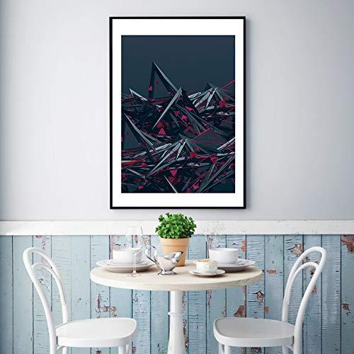 Baodanla Geen lijst volledige kits uil, geometrische kleurenmix en match canvas industriële olie ng, druk woonkamer, gang restaurant behang