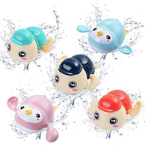 HellDoler Juguete de Baño,5 Piezas de Juguete de Baño para Bebé Tortuga y Cangrejo Nadadores Juguete para Piscina Juguete para Bañera,Juguete para la Hora del Baño